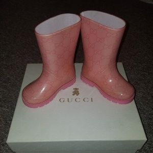 Gucci toddler rain boots size 21 (5c)